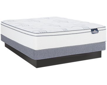 Serta Perfect Sleeper Blomquist Euro Top Low-Profile Mattress Set