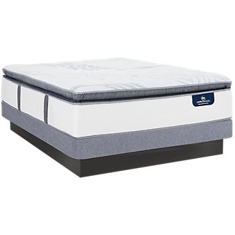 Serta Perfect Sleeper Ridgley Plush Low-Profile Mattress Set
