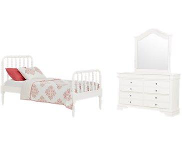 Livie White Panel Bedroom