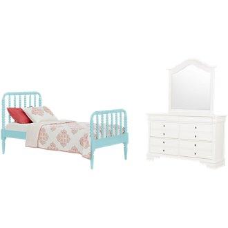 Livie Light Blue Panel Bedroom