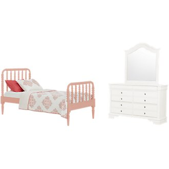Livie Coral Panel Bedroom
