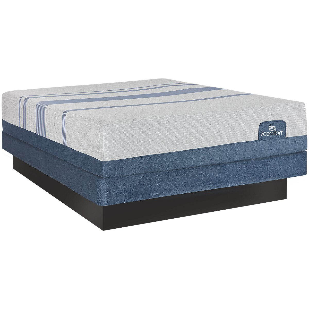 Serta Icomfort Blue Max 1000 Plush Memory Foam Low Profile