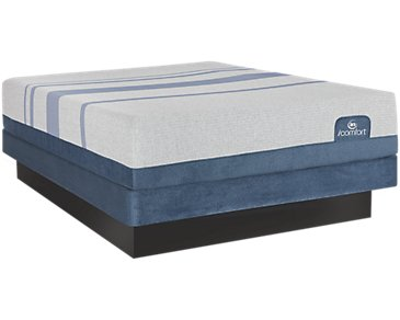 Serta iComfort Blue Max 1000 Plush Low-Profile Mattress Set