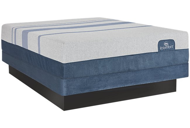 Serta iComfort Blue Max 3000 Plush Memory Foam Low-Profile Mattress Set