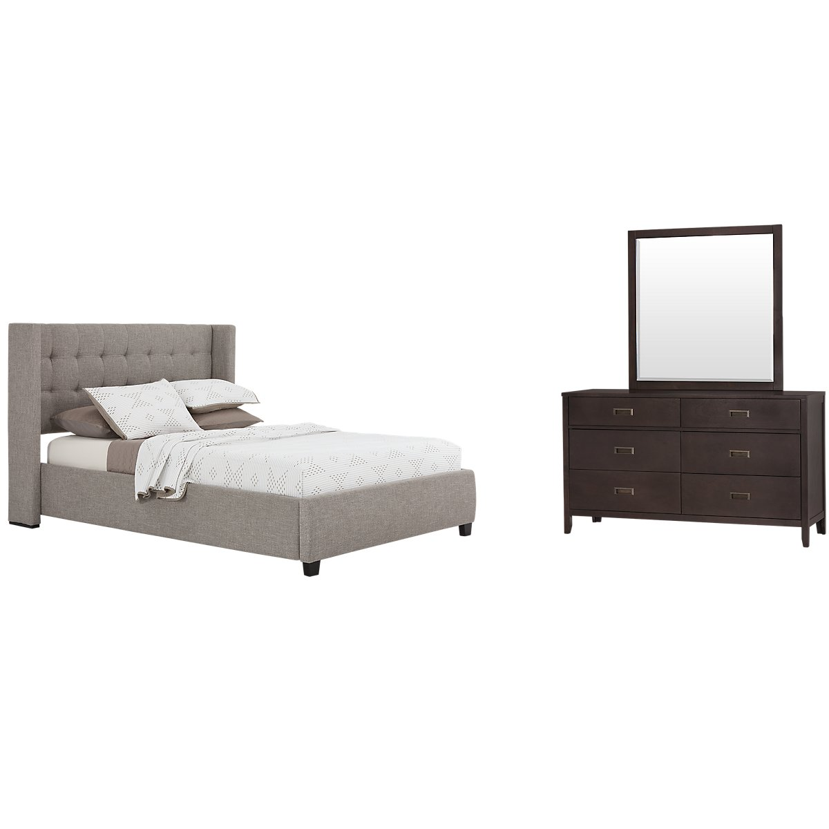 Chatham Pewter Low Platform Bedroom
