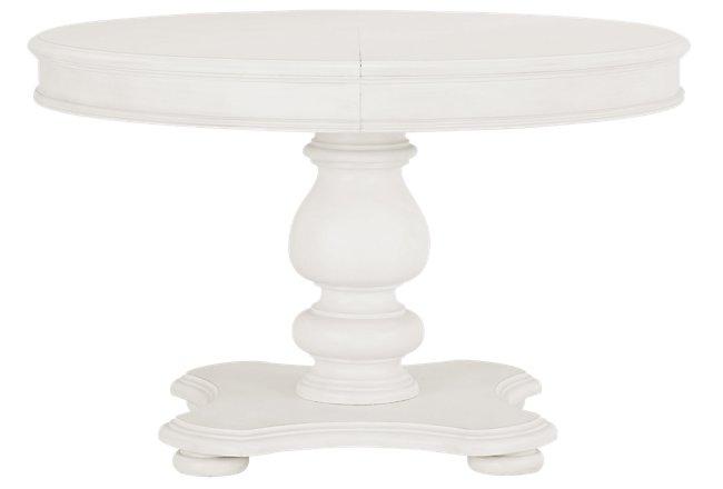 Savannah Ivory Wood Round Table