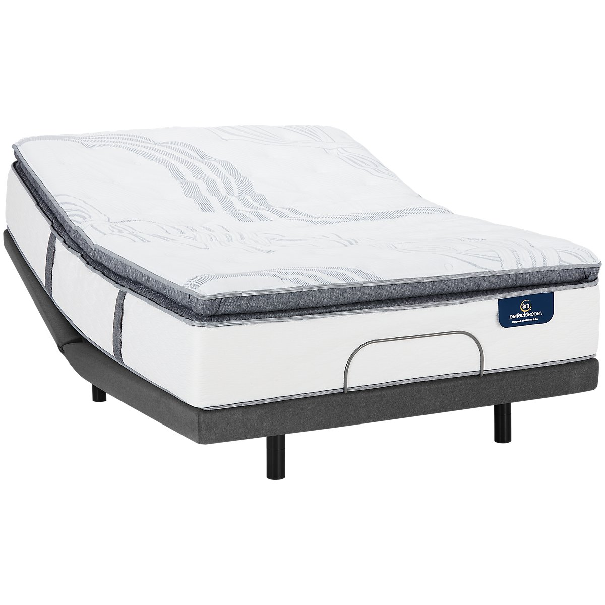 Serta Perfect Sleeper Ridgley Plush Elite Adjustable Mattress Set