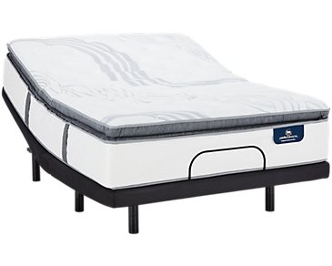 Serta Perfect Sleeper Ridgley Plush Elevate Adjustable Mattress Set