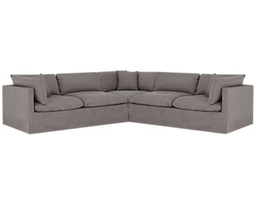Raegan Gray Fabric Small Two-Arm Sectional