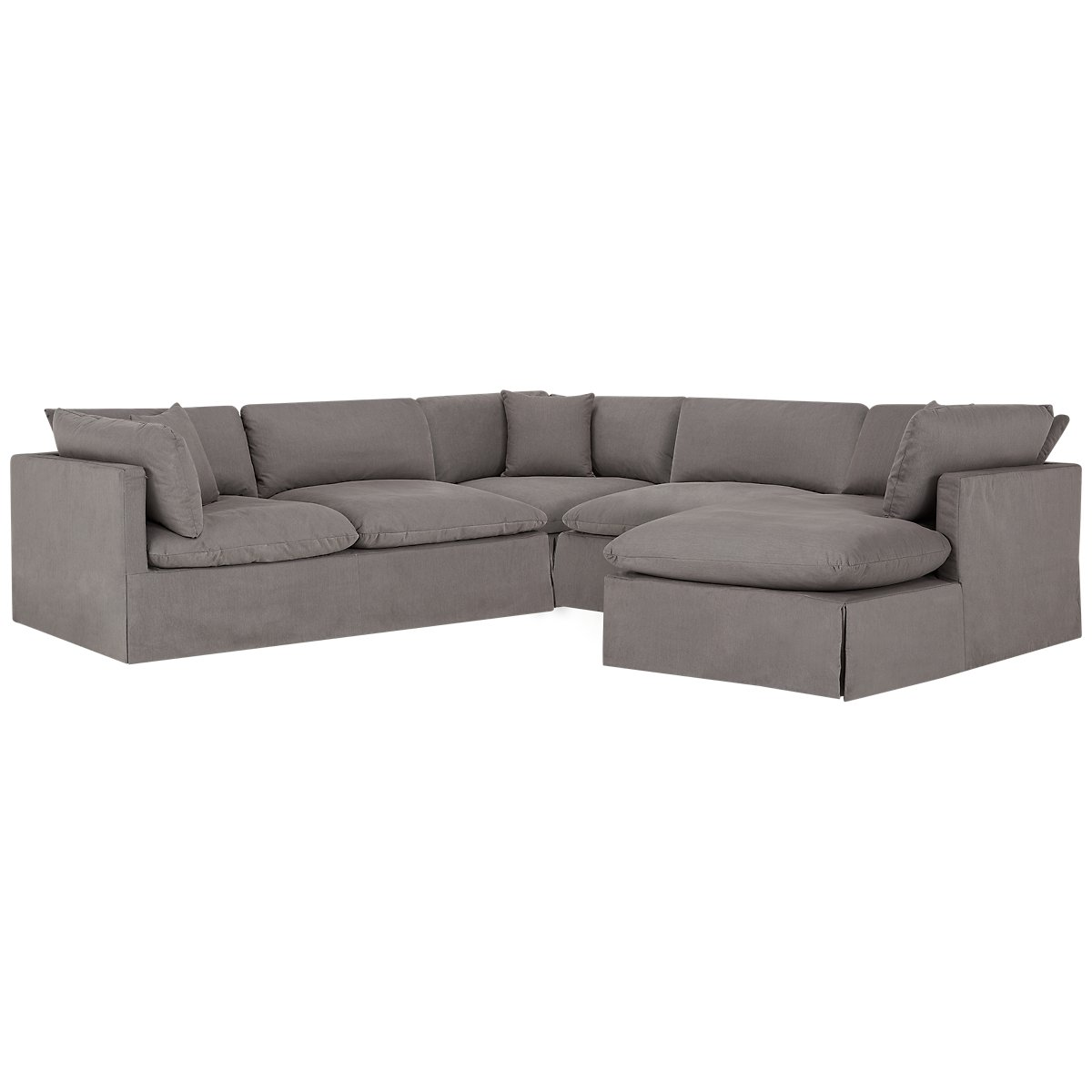 fabric products sofas sectional chaise sofa kaspar studio modern slate baxton gray hipmodernhome