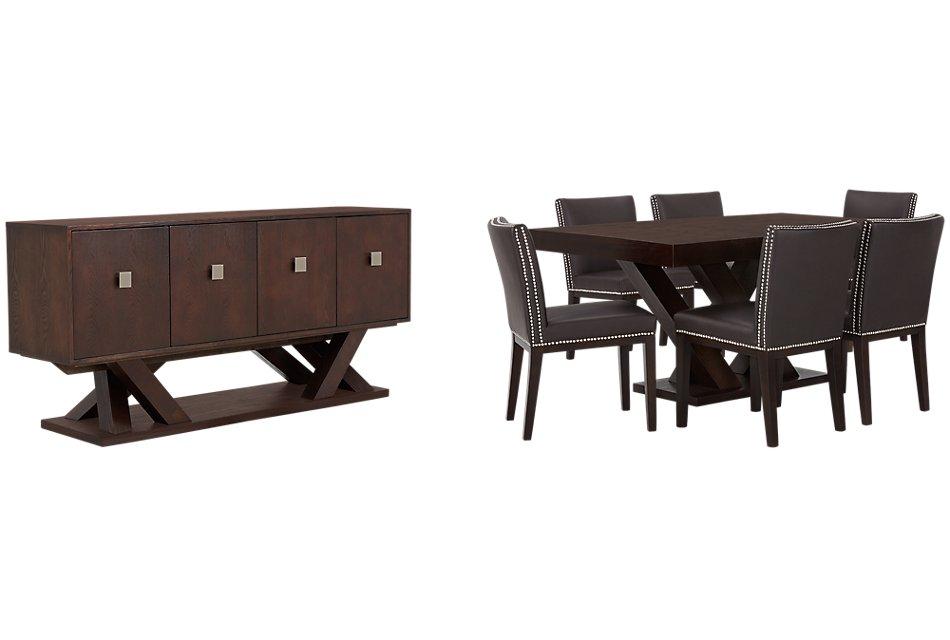 Madero Dark Brown  Rect Dining Room