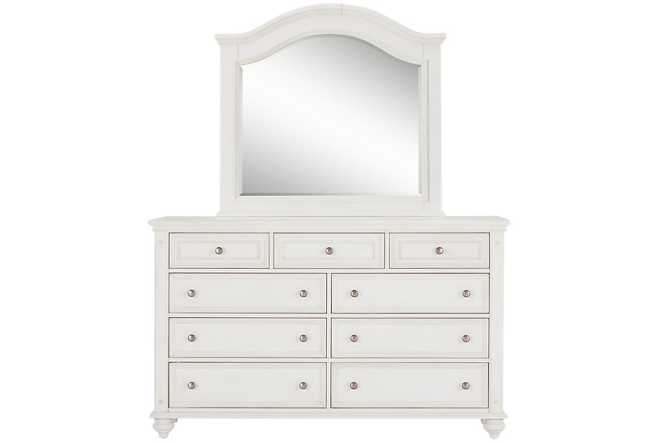 Savannah Ivory Arched Dresser & Mirror