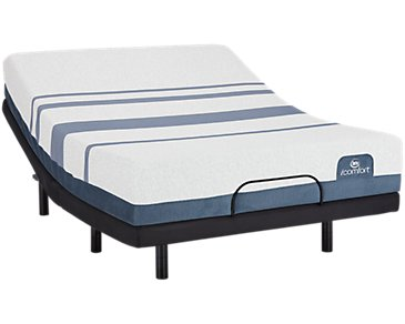Serta iComfort Blue 300 Firm Elevate Adjustable Mattress Set