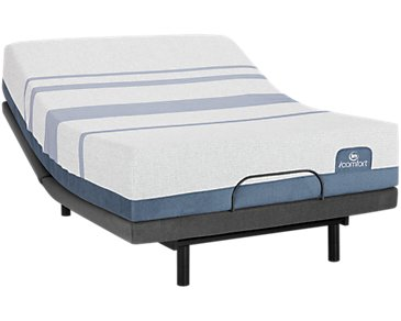 Serta iComfort Blue Max 1000 Plush Deluxe Adjustable Mattress Set