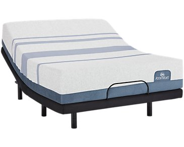 Serta iComfort Blue Max 1000 Plush Elevate Adjustable Mattress Set