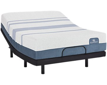 Serta iComfort Blue Max 3000 Plush Elevate Adjustable Mattress Set