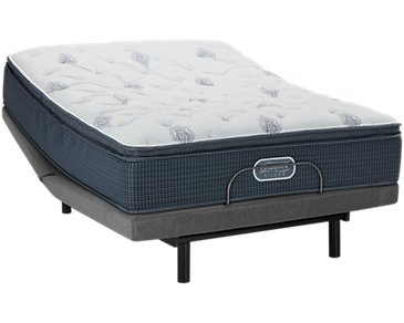 Beautyrest Silver Palm Springs Plush Deluxe Adjustable Mattress Set