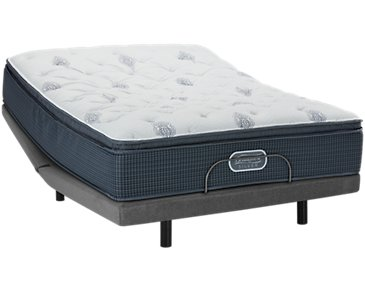 Beautyrest Silver Palm Springs Plush Elite Adjustable Mattress Set
