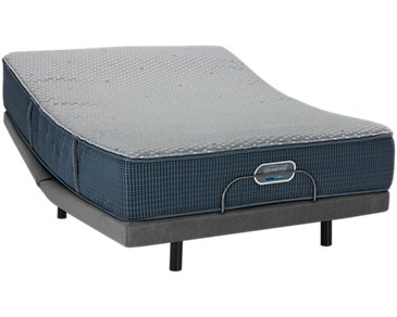 Beautyrest Silver Vista Trail Hybrid Luxury Firm Elite Adjustable Mattress Set