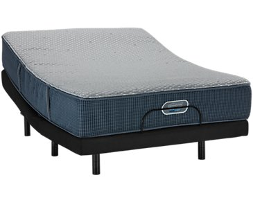 Beautyrest Silver Vista Trail Hybrid Luxury Firm Elevate Adjustable Mattress Set