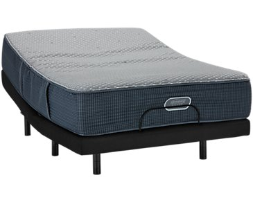 Beautyrest Silver Vivid Shores Ultra Plush Hybrid Elevate Adjustable Mattress Set