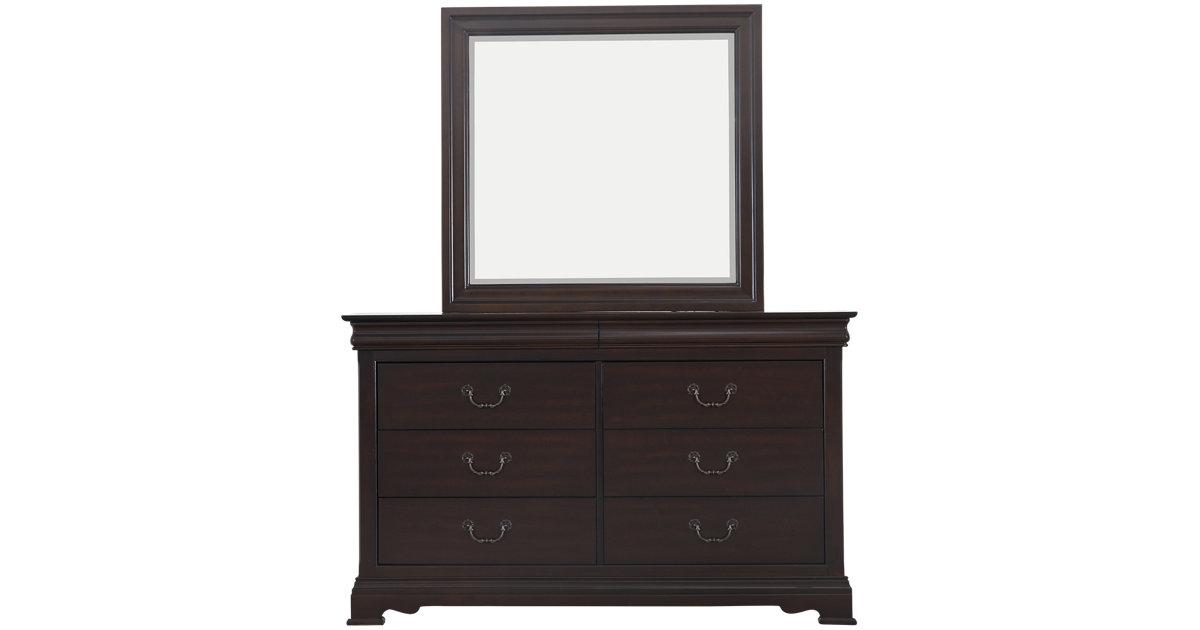 City Furniture Bordeaux Dark Tone Dresser Mirror