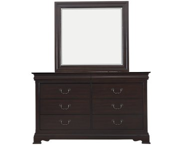 Bordeaux Dark Tone Dresser & Mirror