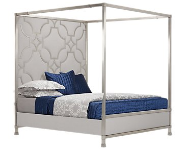 Domaine Upholstered Metal Canopy Bed