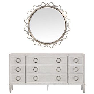 Domaine Light Tone Dresser & Mirror