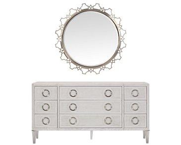 Domaine Light Tone Dresser & Mirror