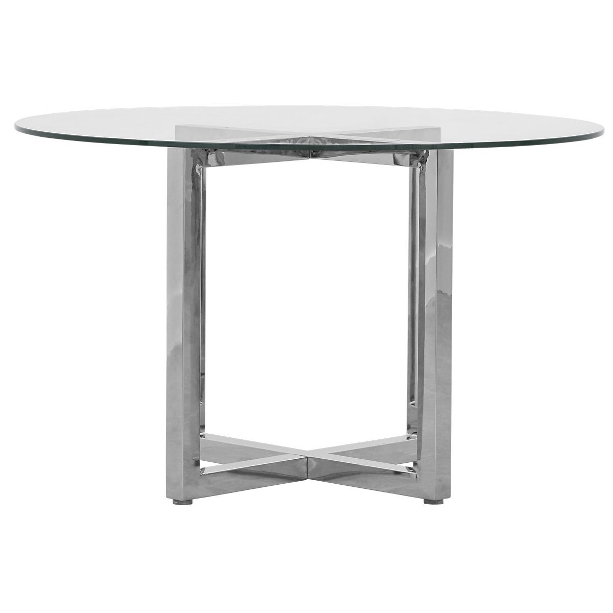 City Furniture Amalfi Glass Round Table