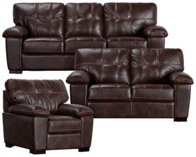 Henry Dark Brown Microfiber Sofa. VIEW LARGER