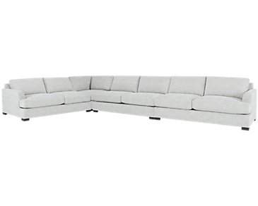 Adriana Light Gray Fabric Large Two-Arm Sectional
