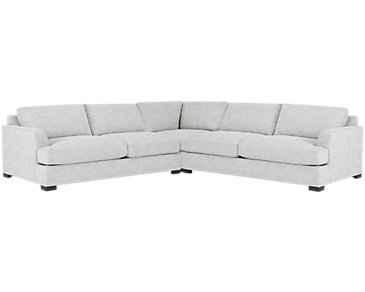 Adriana Light Gray Fabric Small Two-Arm Sectional