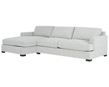 Adriana Light Gray Fabric Left Chaise Sectional
