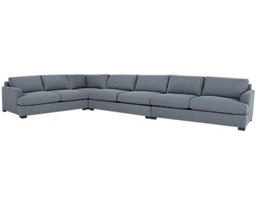 Adriana Dark Blue Fabric Large Two-Arm Sectional