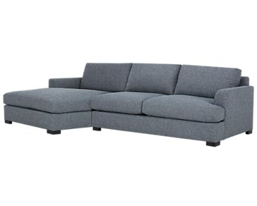 Adriana Dark Blue Fabric Left Chaise Sectional