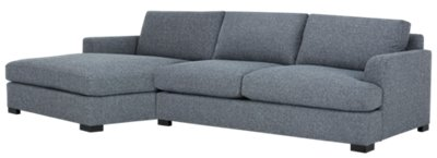 Adriana Dark Blue Fabric Left Chaise Sectional ...