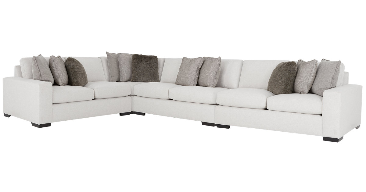 Orlando Light Gray Fabric Large Two-Arm Sectional
