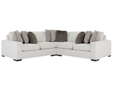 Orlando Light Gray Fabric Small Two-Arm Sectional