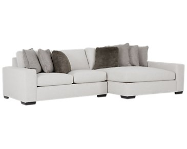 Orlando Light Gray Fabric Right Chaise Sectional