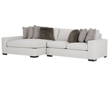Orlando Light Gray Fabric Left Chaise Sectional