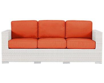 Biscayne Orange Sofa