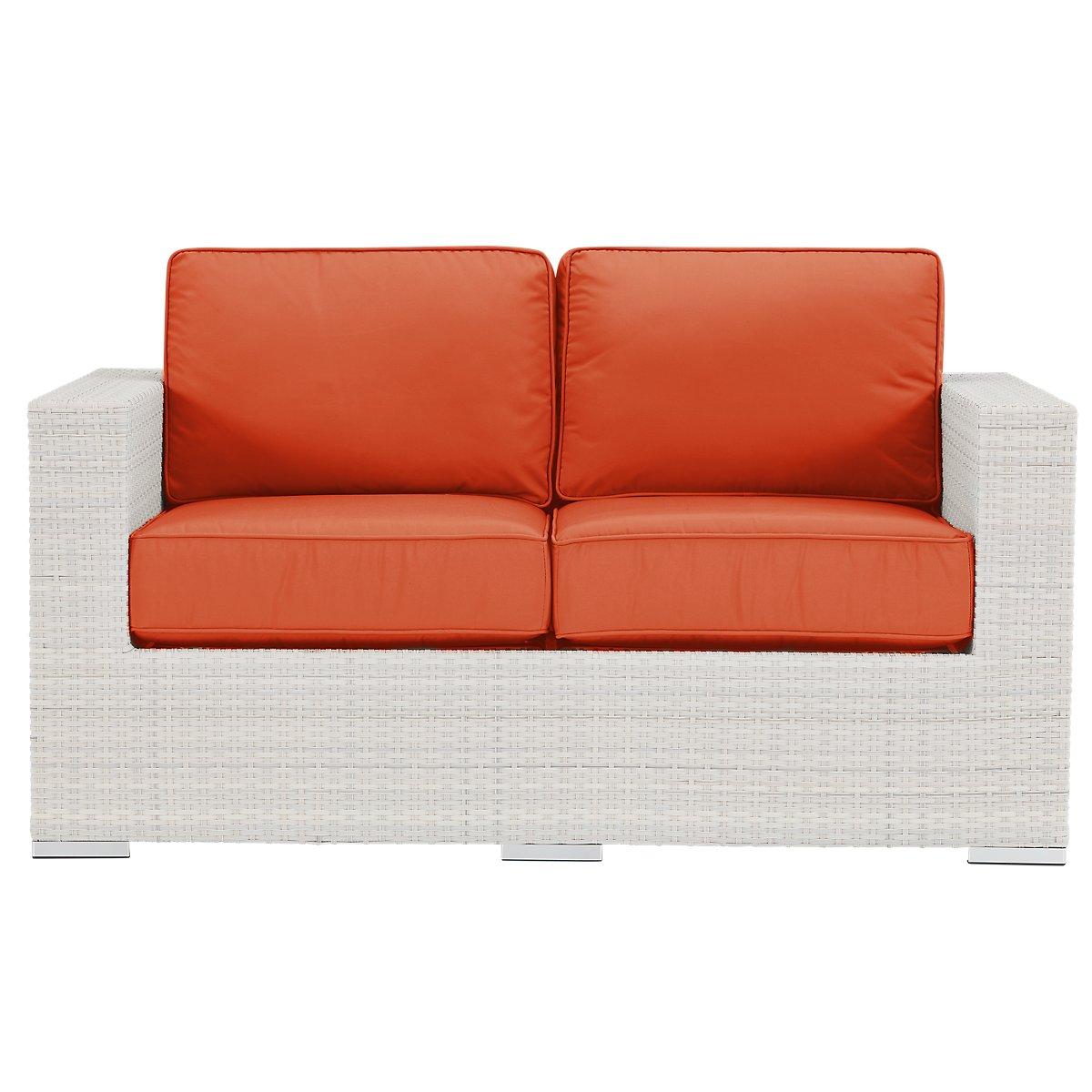 City Furniture Biscayne Orange Loveseat
