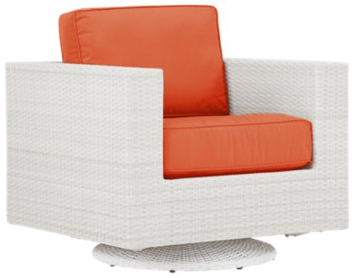 Biscayne Orange Swivel Chair