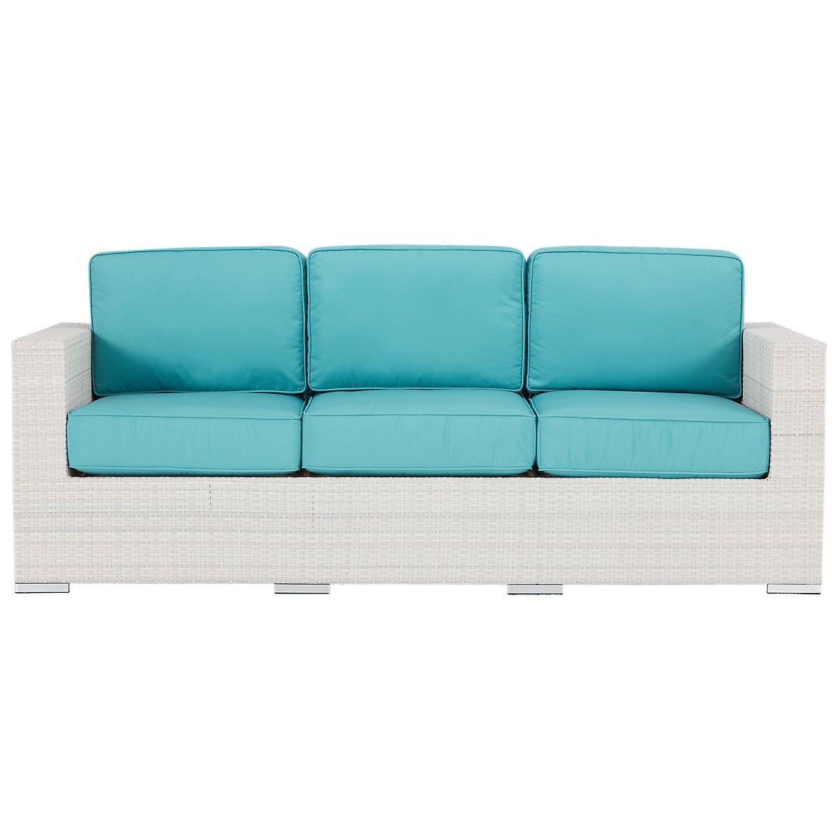 City furniture biscayne dark teal sofa for Teal sofas for sale