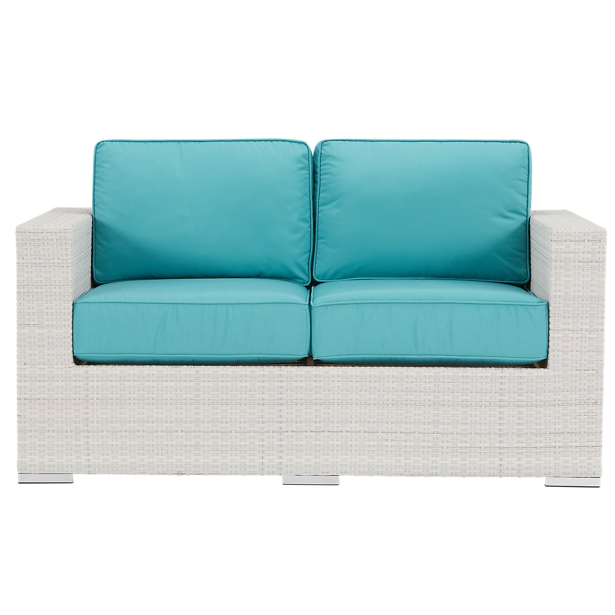 City Furniture Biscayne Dark Teal Loveseat