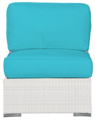Biscayne Dark Teal Armless Chair. VIEW LARGER