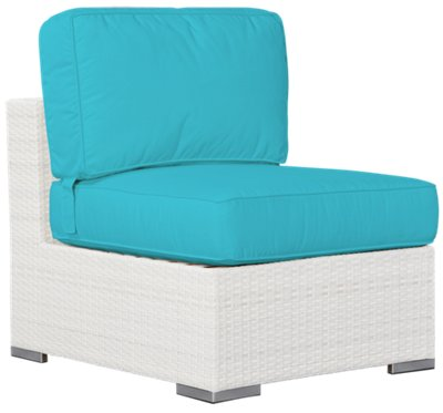 Biscayne Dark Teal Armless Chair