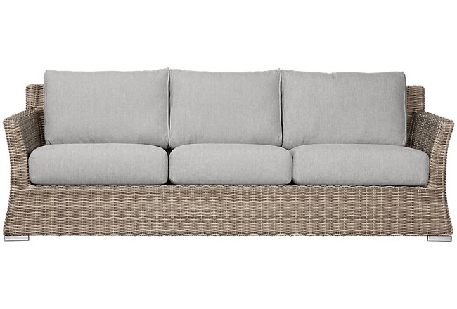 Raleigh Gray Woven Sofa Outdoor Sofas City Furniture